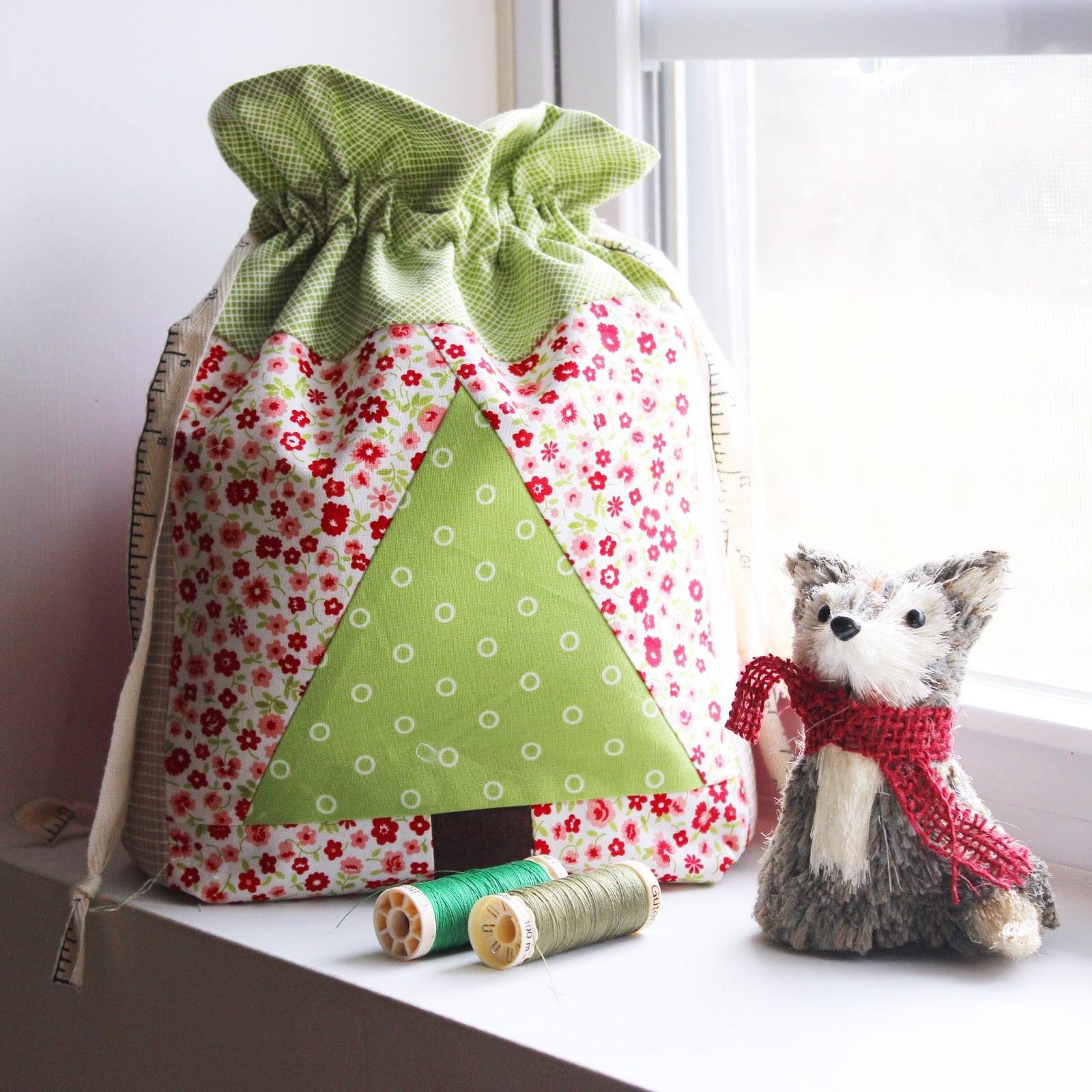 DIY Drawstring Christmas Sack - hilltop custom designs 1faba5f48