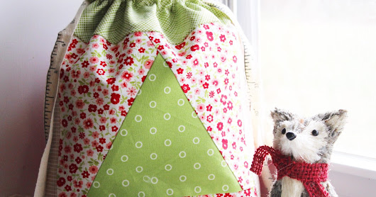 DIY Drawstring Christmas Sack