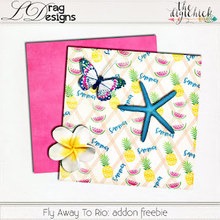 Creative Team for LDrag Designs – Fly Away to Rio and Coordinating Freebie