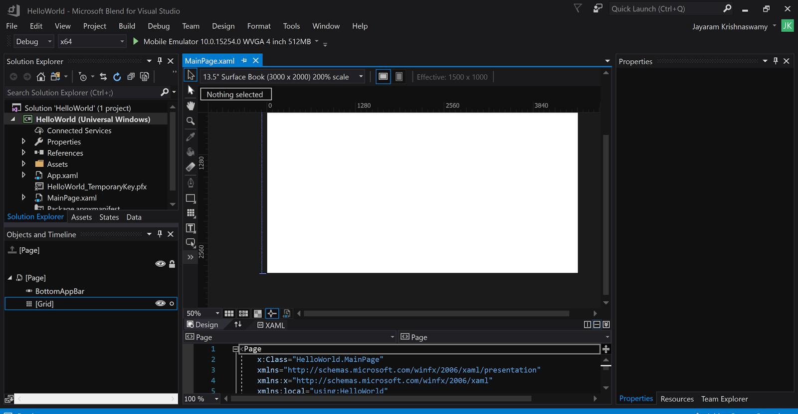 Workaround: UWP project with Visual Studio 2017 Community