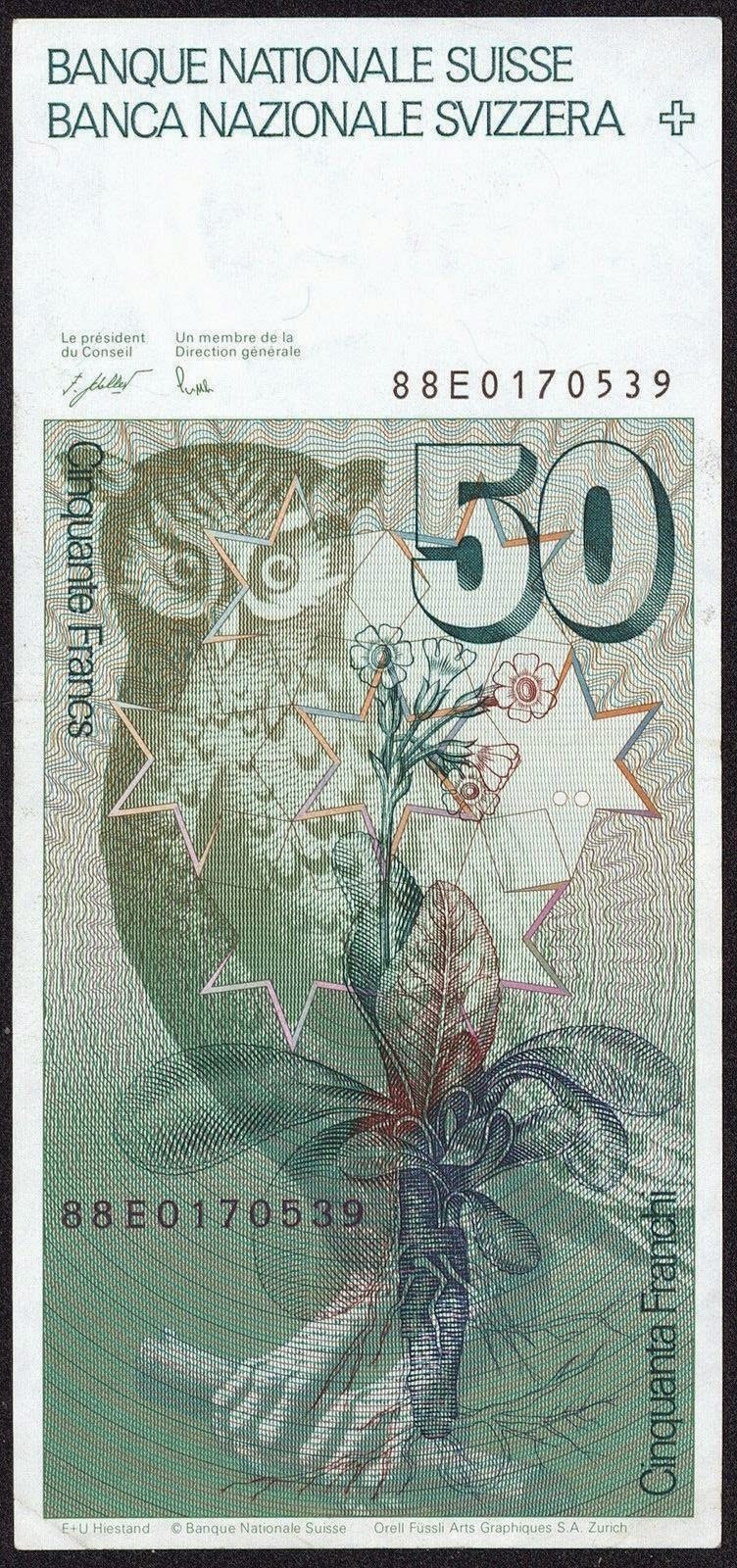 Banknotes of Switzerland 50 Swiss Franc note