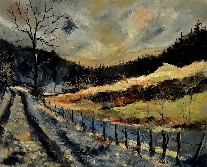 Pol Ledent. Современный художник-самоучка. Пейзажи и цветы 7