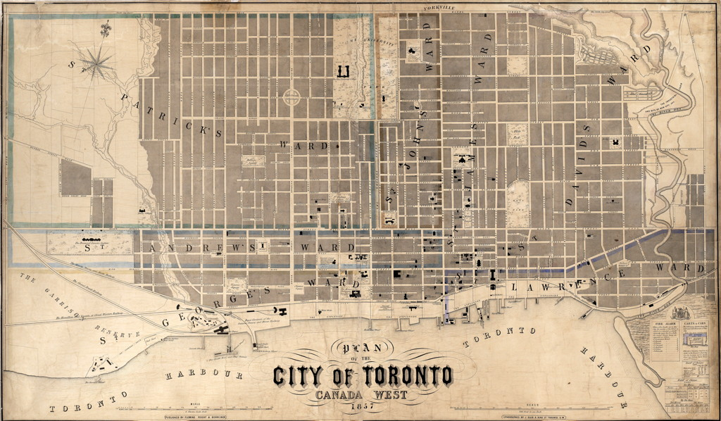 1857 Plan of the City of Toronto, Fleming Ridout & Schreiber