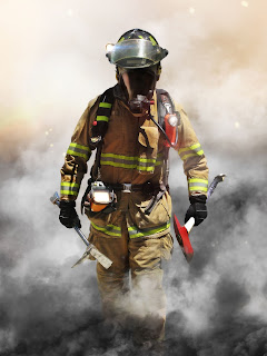 firefighter through smoke