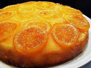 Pastel de naranja invertida