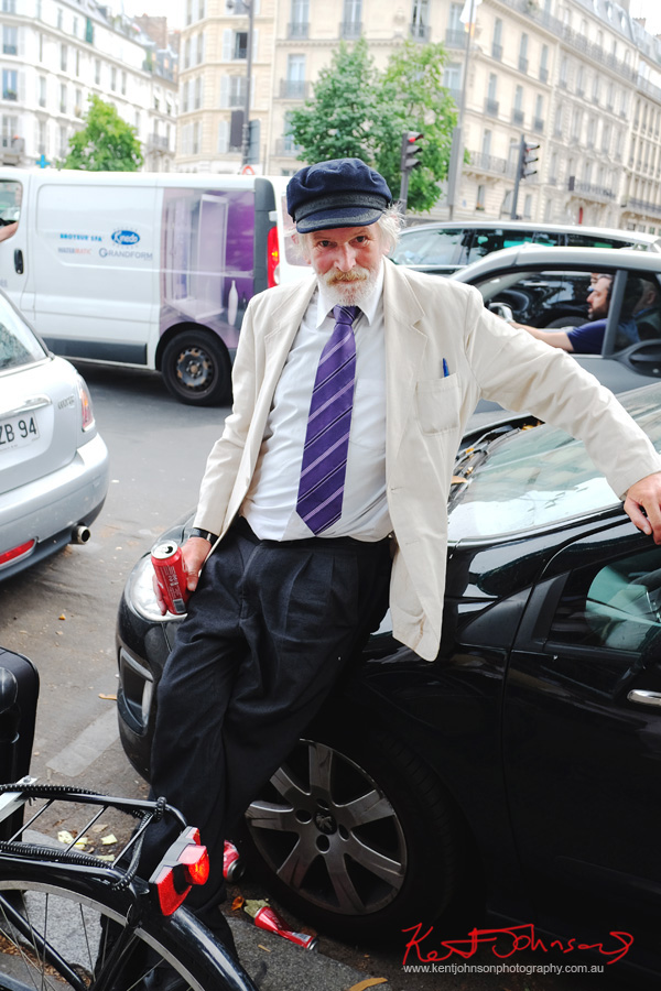Hemmingway outside Les Deux Magots.. If you're going to the Cité.. Shots from Paris on June 26 2017 for Street Fashion Sydney.