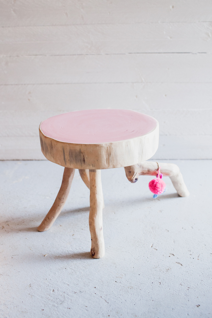 artisan wooden stool
