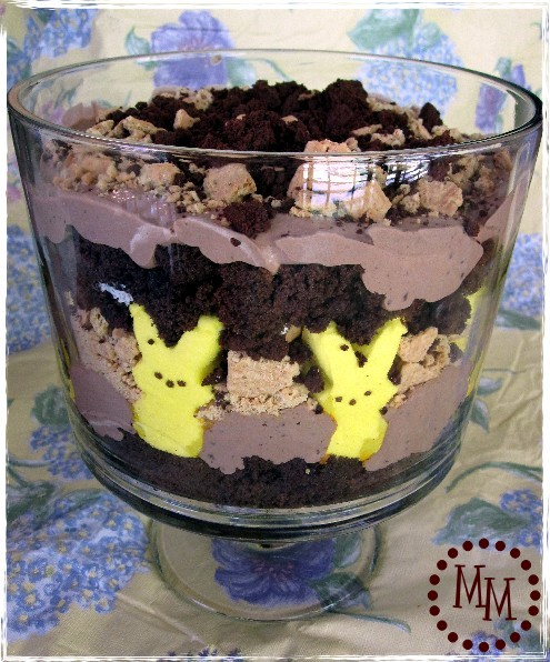 S'mores trifle with PEEP bunnies