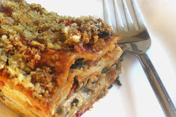 Vegetarian Lasagna with Chunky Tomato Sauce and Cashew Bechamel