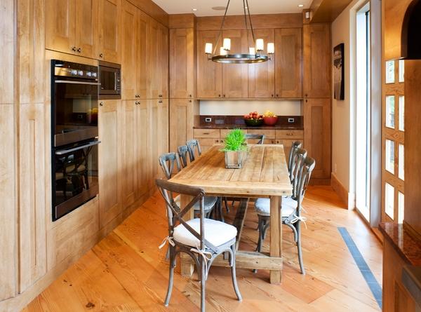 Kursi dan Meja Kayu untuk Dapur