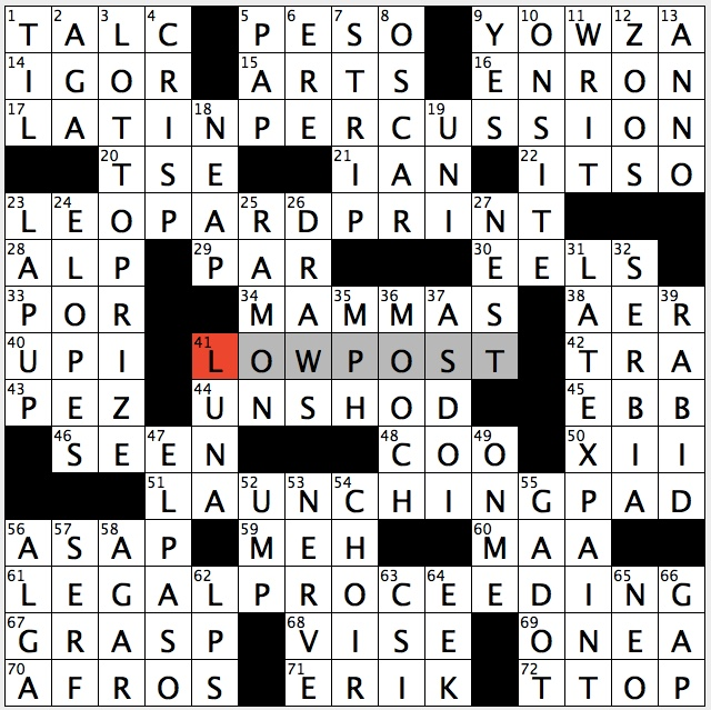 Rex Parker Does the NYT Crossword Puzzle: March 2019
