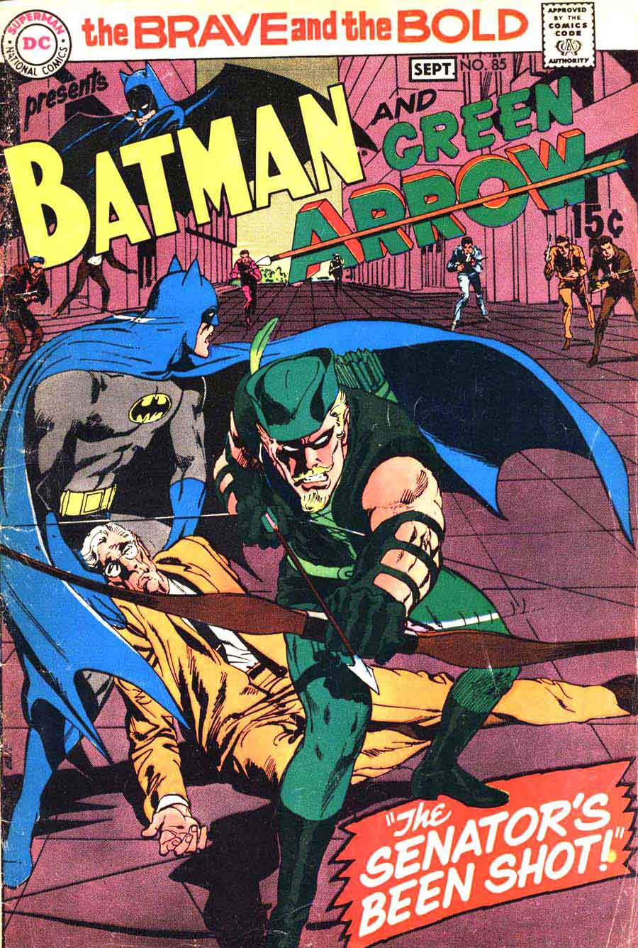 Brave and the Bold v1 #85 dc comic book cover art by Neal Adams