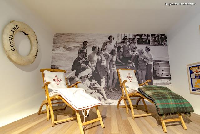 Museo Red Star Line, tumbonas de los pasajeros de primera clase - Amberes por El Guisante Verde Project