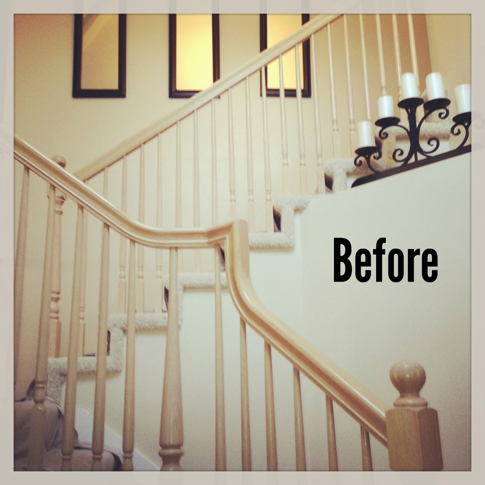 Michelle Paige Blogs: Before And After Of Painting A Banister