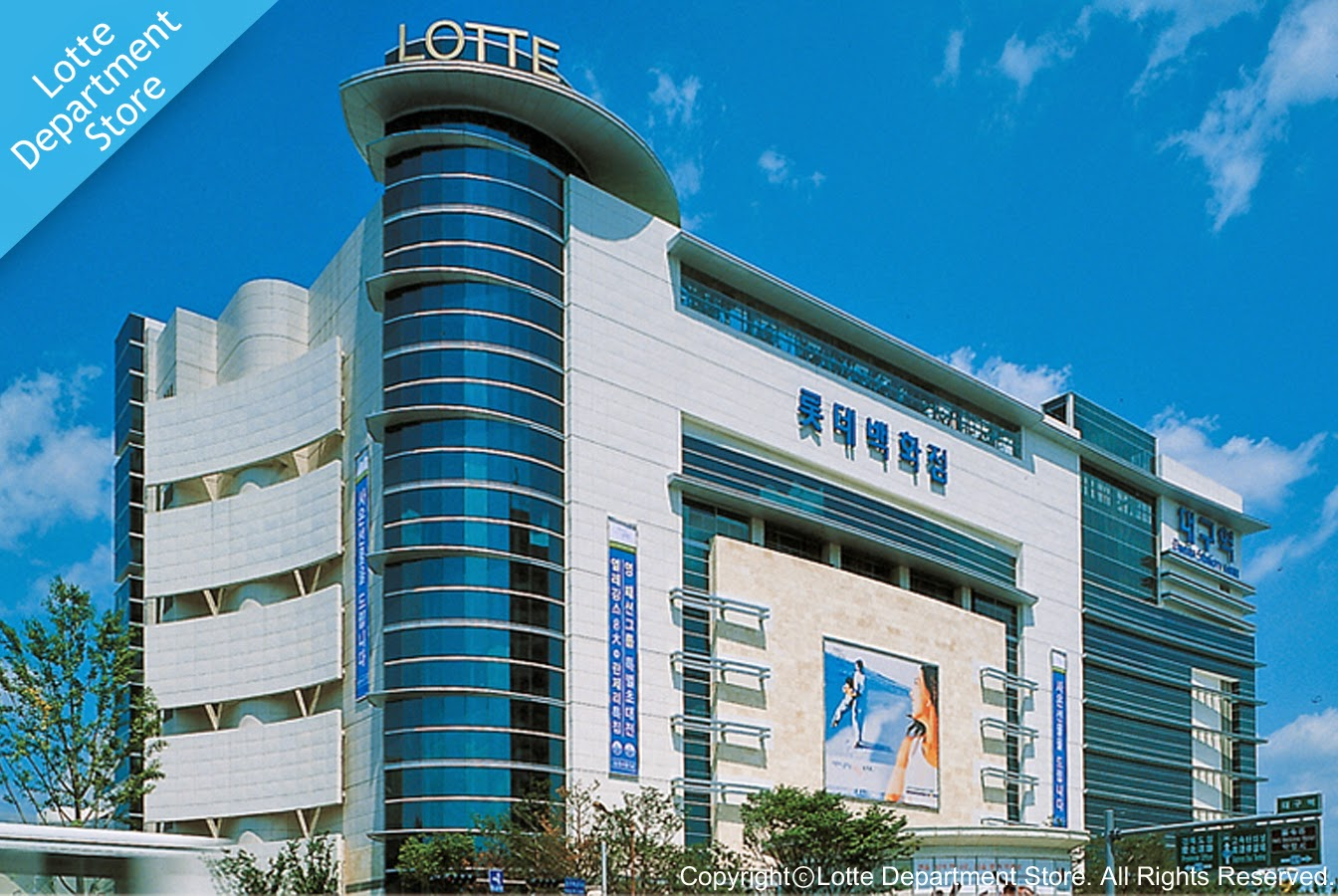 Shopping Areas in Daegu-Lotte Department Store in Daegu Station, Buk-gu