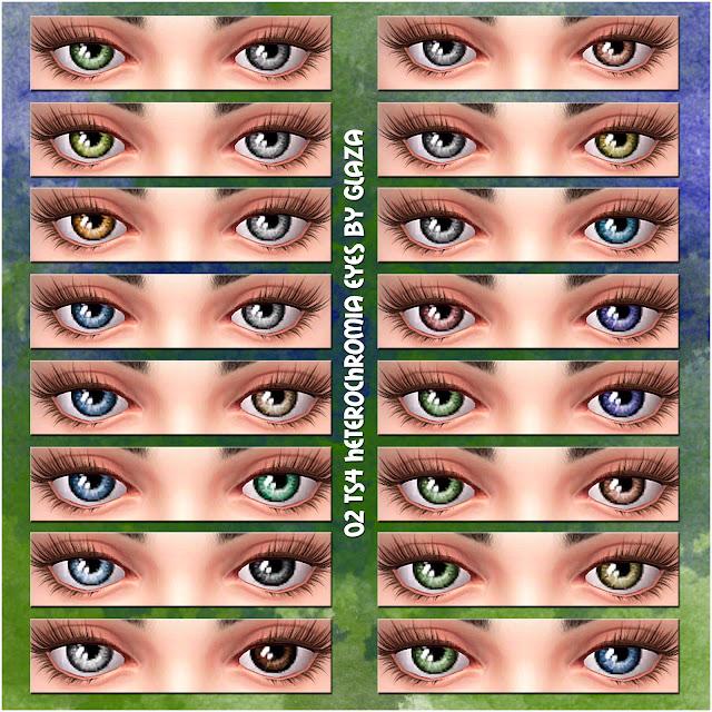 02 TS4 heterochromia eyes by glaza