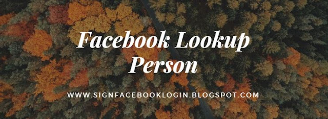 Facebook Lookup Person