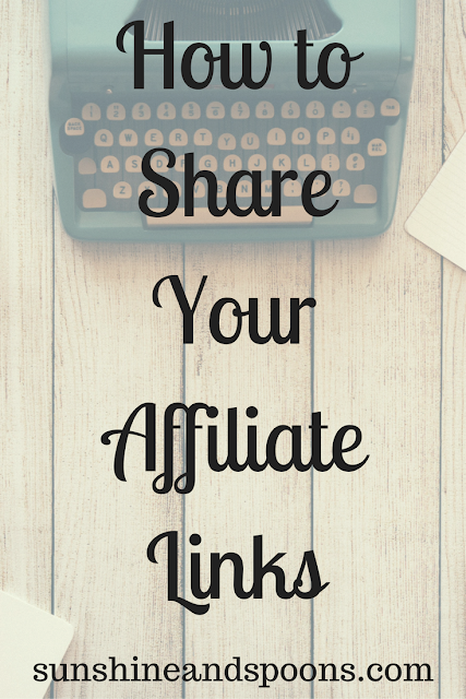 How to Share Your Affiliate Links