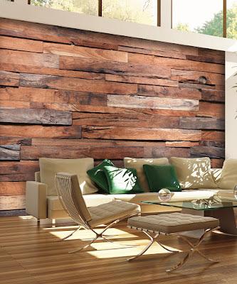 trätapet brun fototapet vardagsrum fondtapet trä vägg plankor