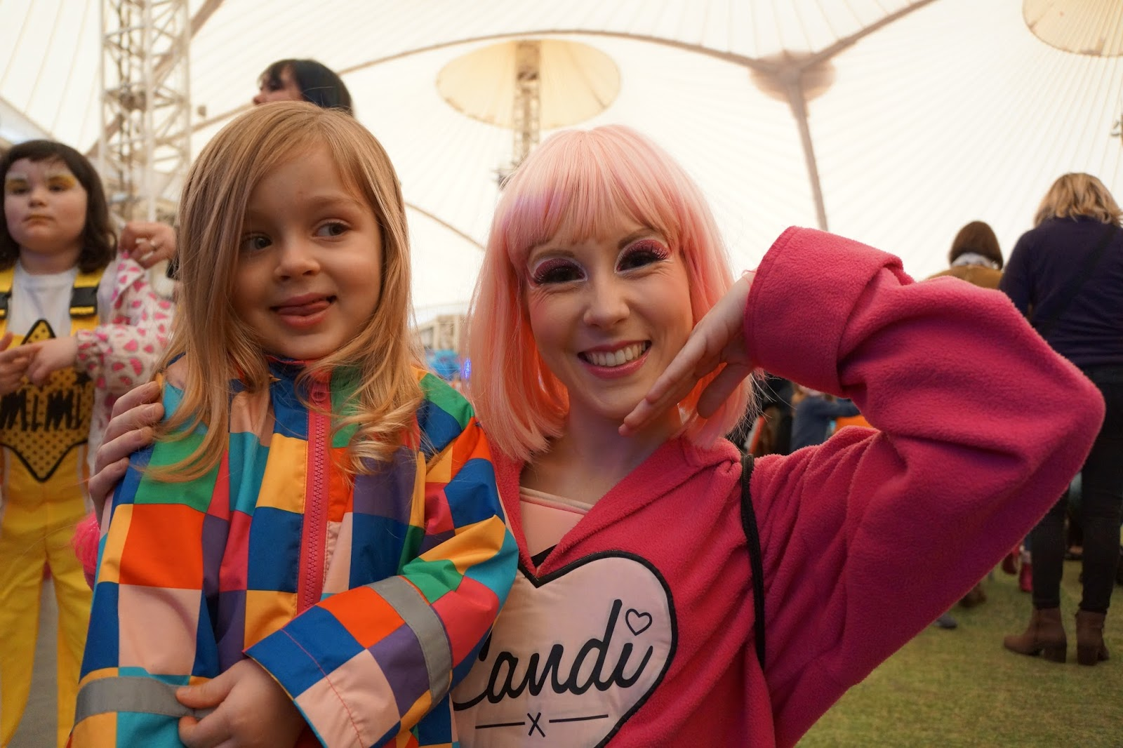 meeting candy character from skyline gang at butlins minehead