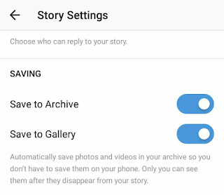 Enable save to archive