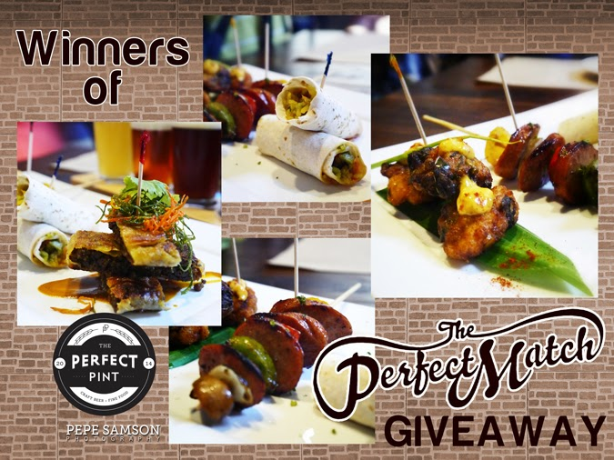 I'm Hoppy to Announce the Winners of My #ThePerfectPintPH Giveaway!
