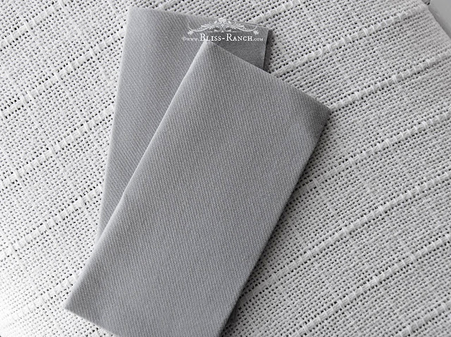 SimuLinen Rich Grey Like Linen Disposable Napkins, Bliss-Ranch.com