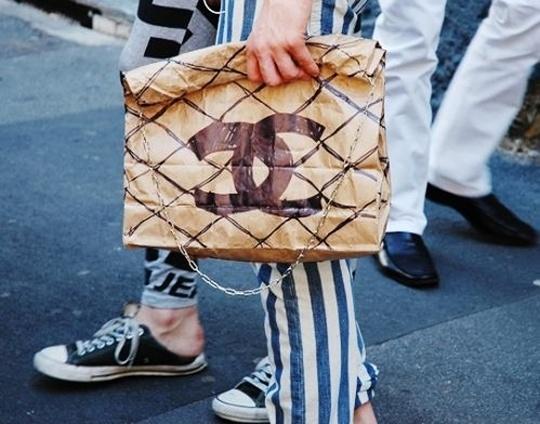 bolsas papel, reciclar, logo, Coco Chanel, manualidades