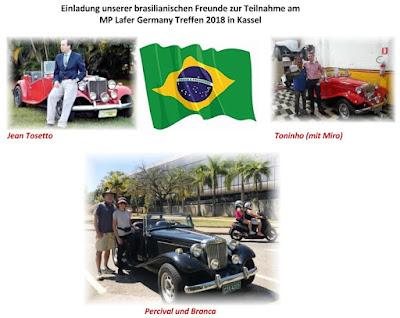 Brasileiros mencionados na comunicação dos laferistas alemães.