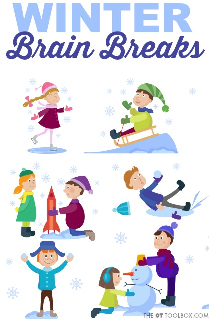 Add winter brain break ideas to the classroom to add movement breaks so kids can learn and focus with better attention, all with a winter theme!
