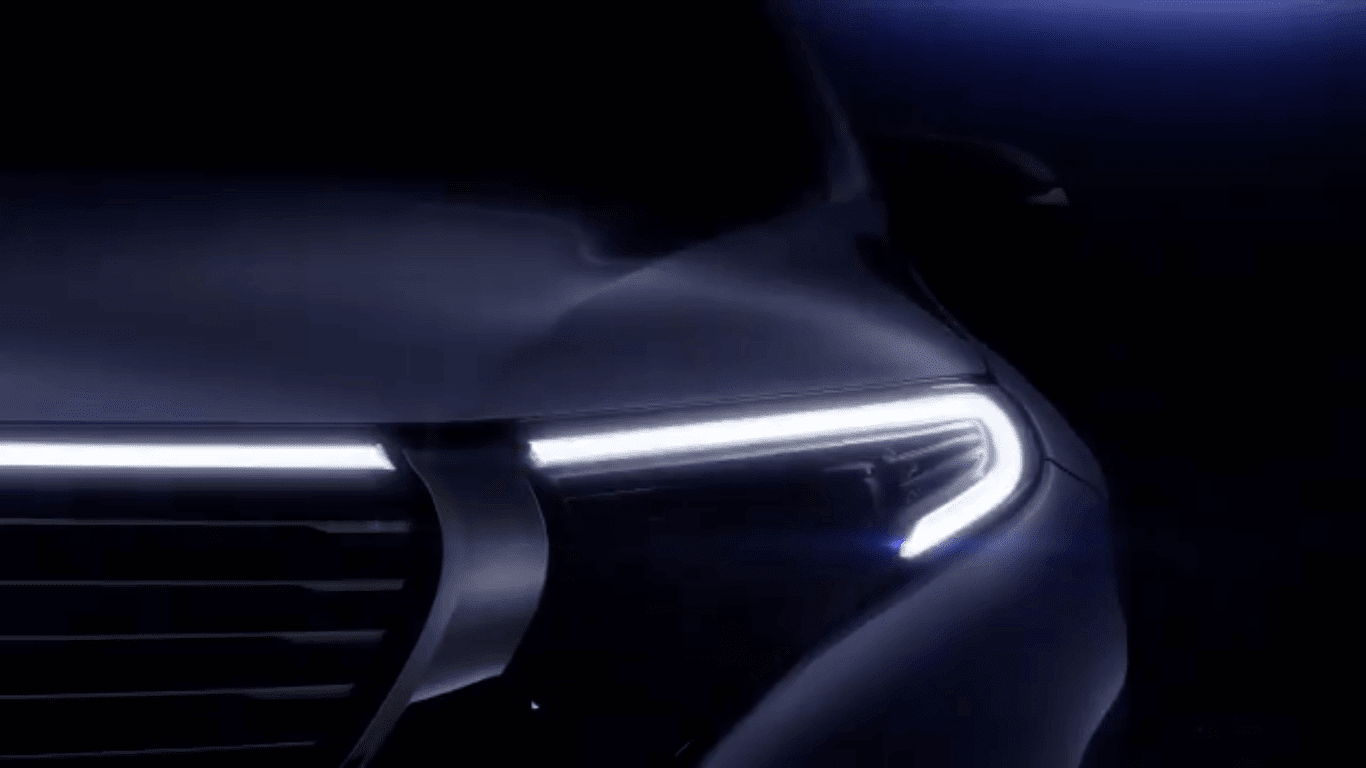 Mercedes-Benz EQC Flashes Its Face Before September 4 Uncovering