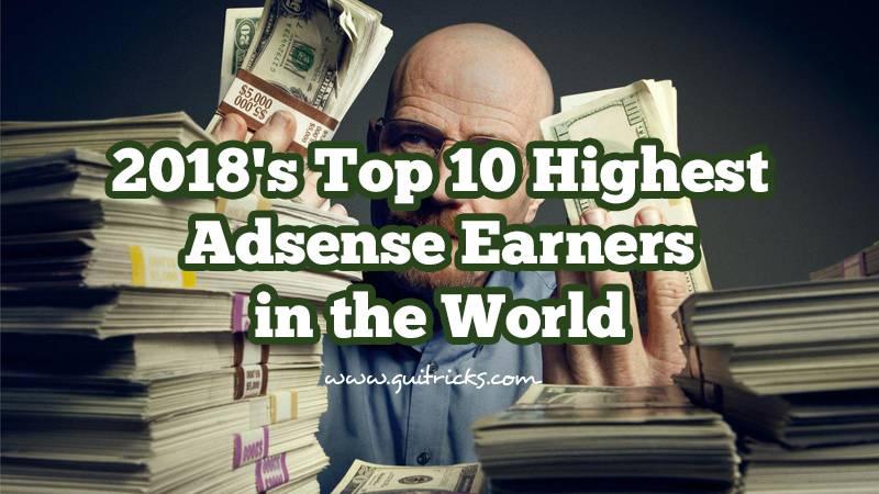 10 Highest Adsense Earners In The World