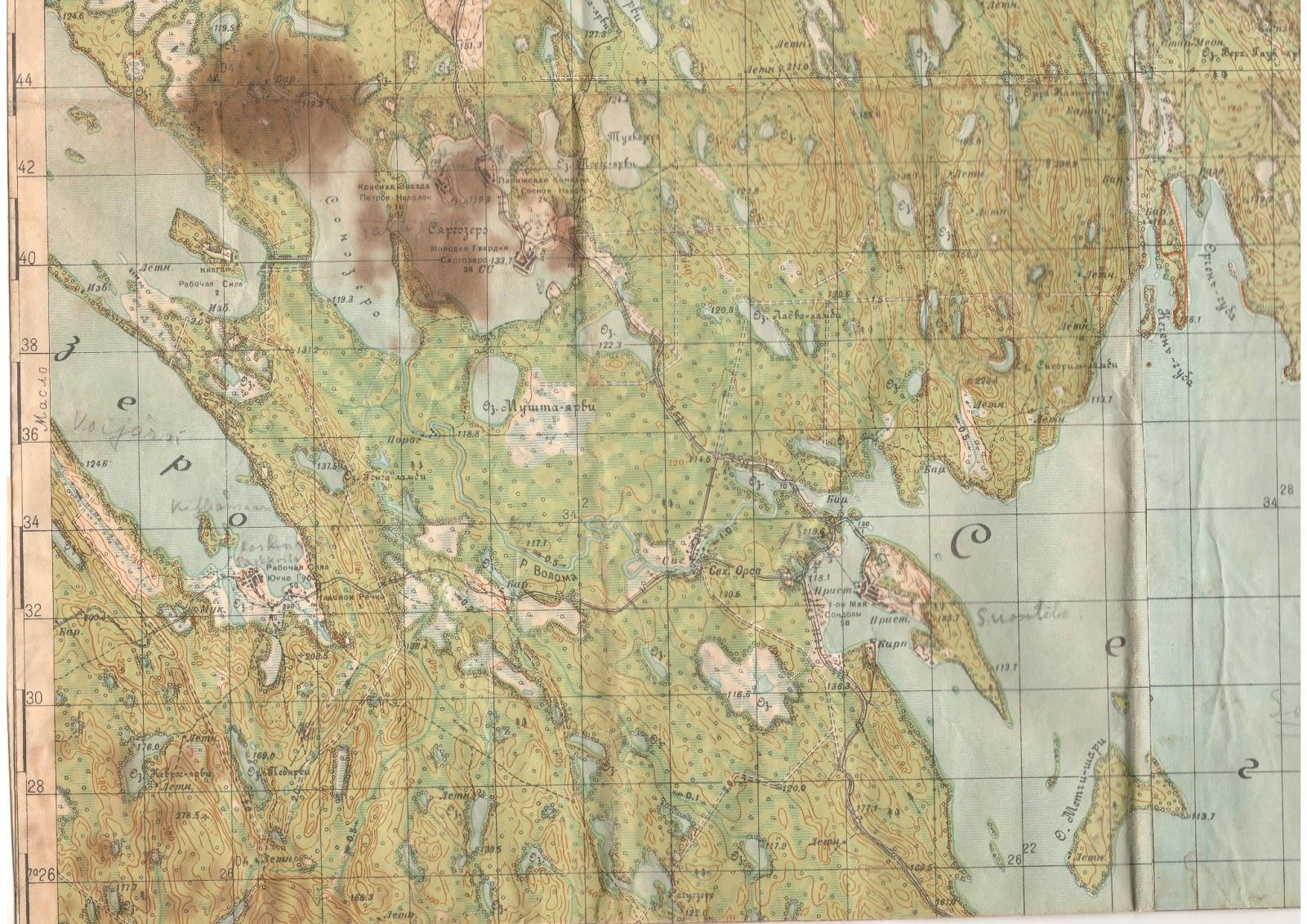 Sotiemme Kartat Rukajarven Jaakarit