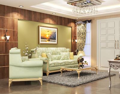 Tampilan Interior Ruang Tamu Klasik