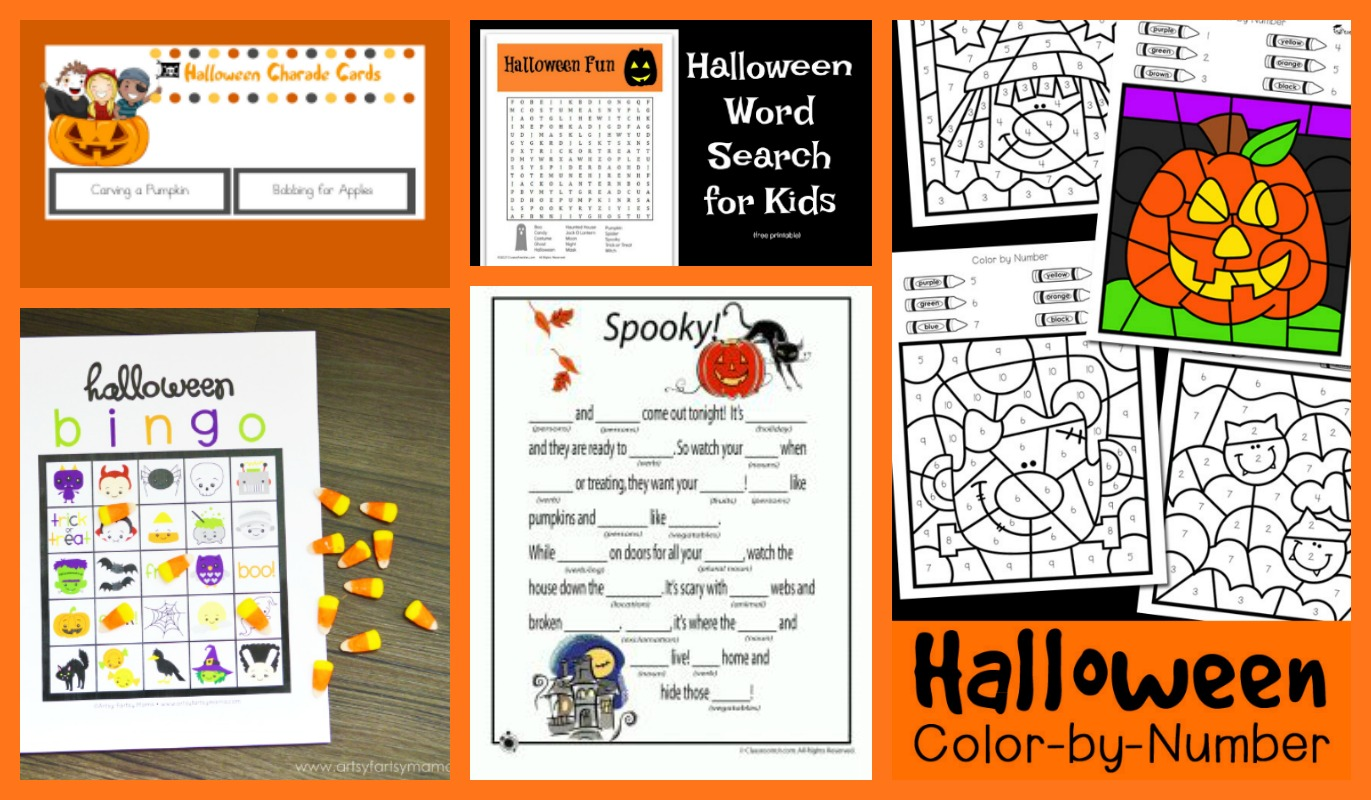 Crayon Freckles: 25 Free Halloween Printables for Kids