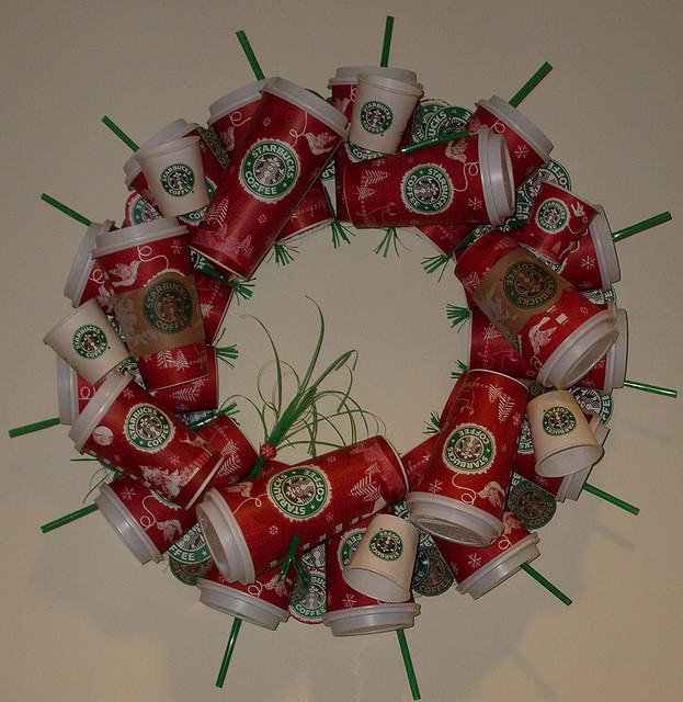 How To Recycle: Recycled Christmas Wreath