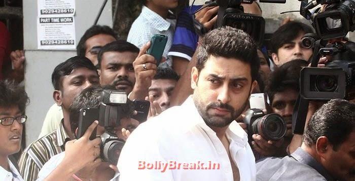 Abhishek Bachchan, Celebs Visit Ravi Chopra's Funeral