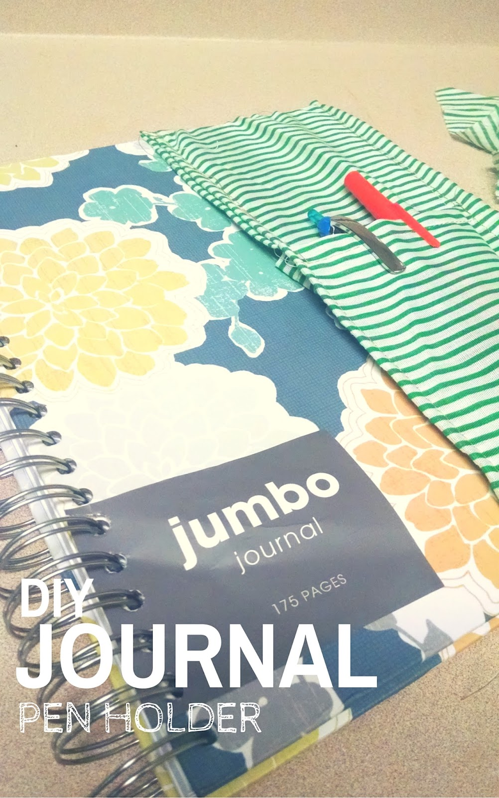 diy journal pen holder