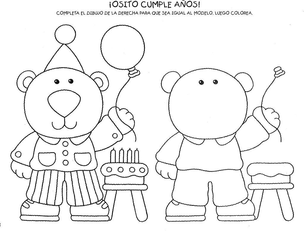 Figuras Para Colorear Para Niños De Preescolar: Actividades Para Preescolar: Para Colorear