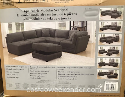 Costco 2000891 - 6-piece Fabric Modular Sectional: great for your family or living room