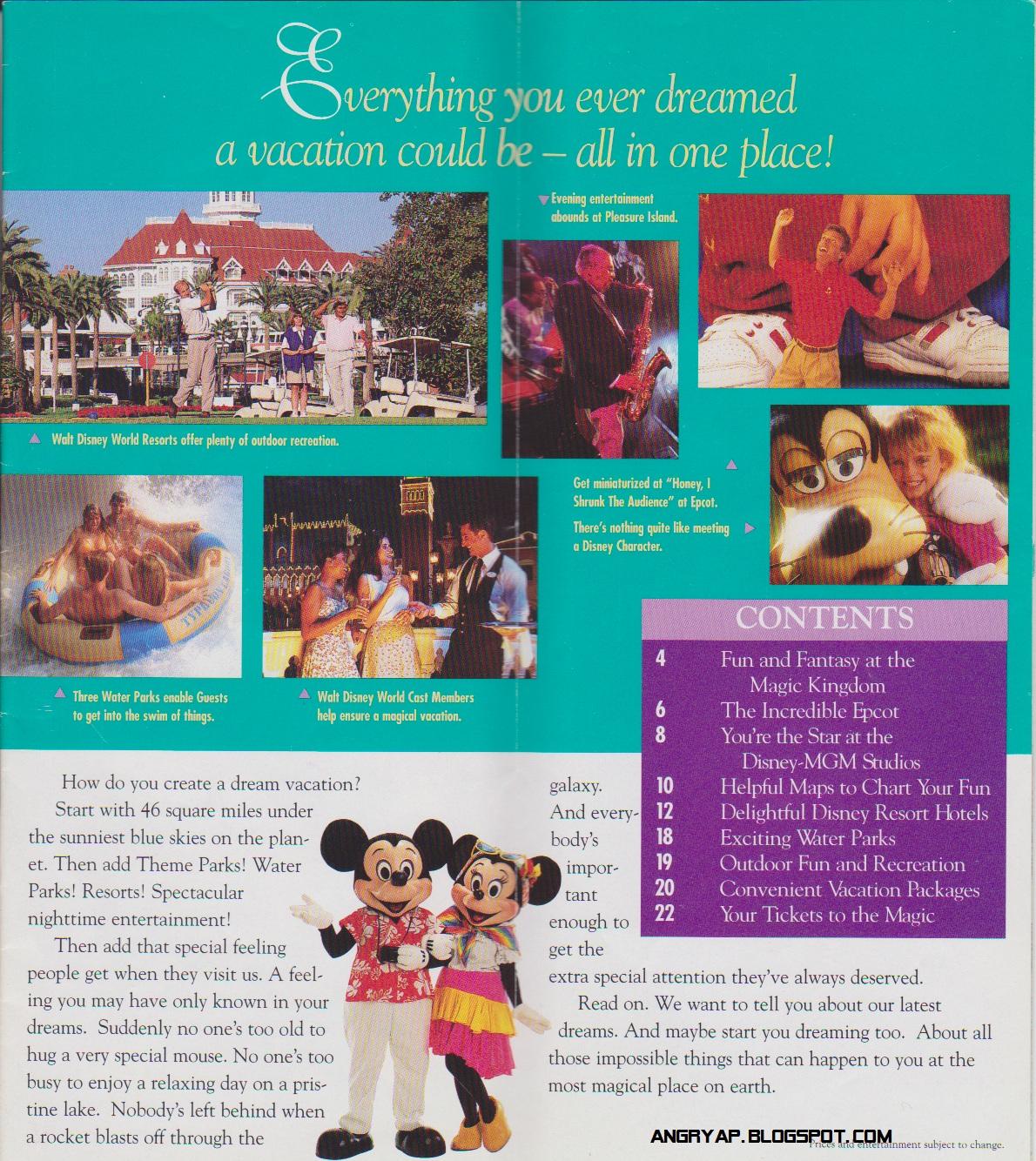 1996 Walt Disney World Vacation Brochure Part 1