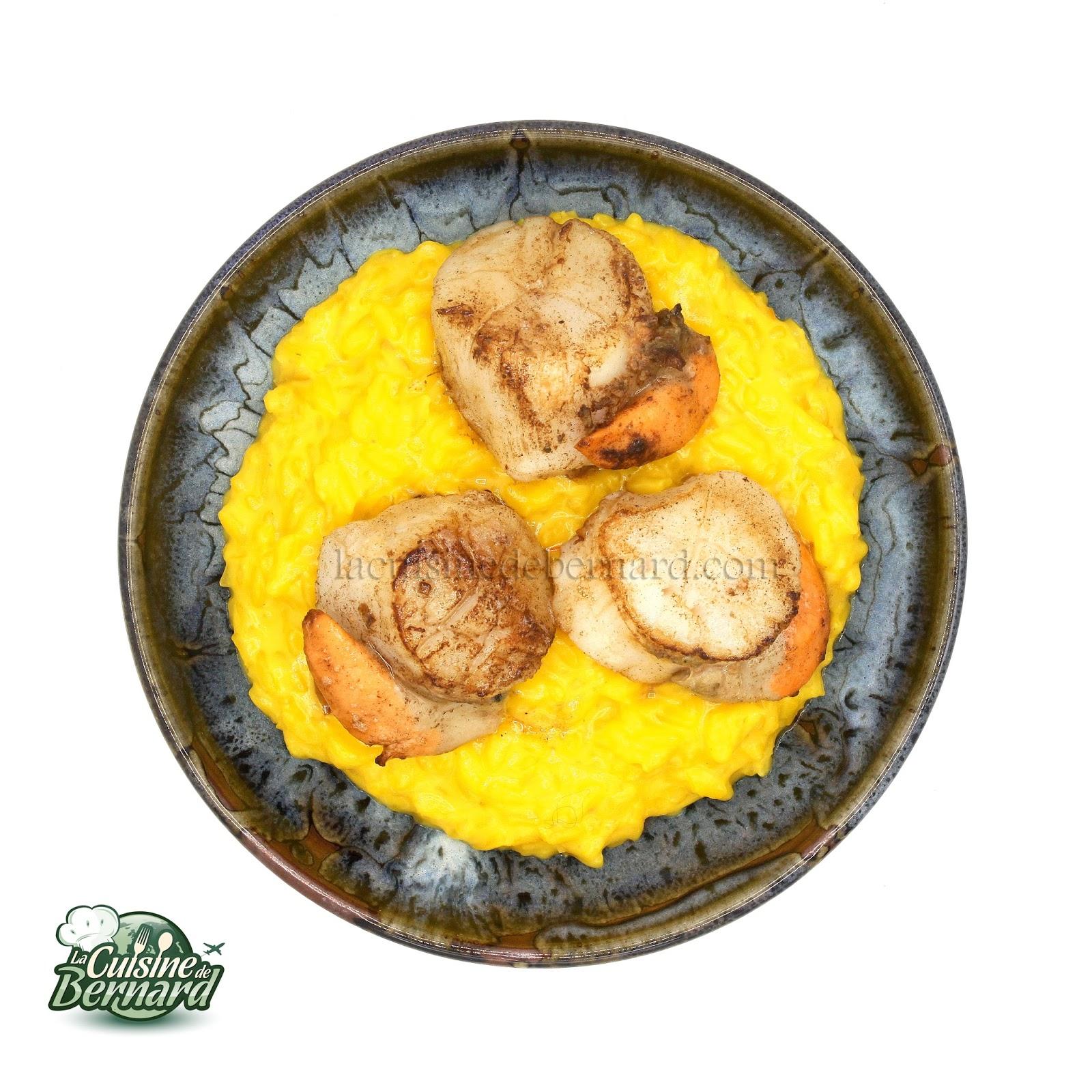 La Cuisine De Bernard Risotto Au Citron Et Safran