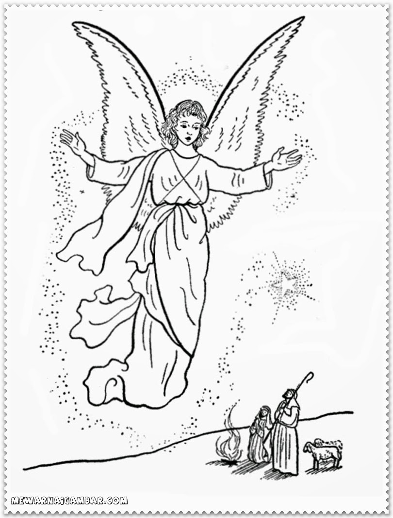 christmas coloring pages angels