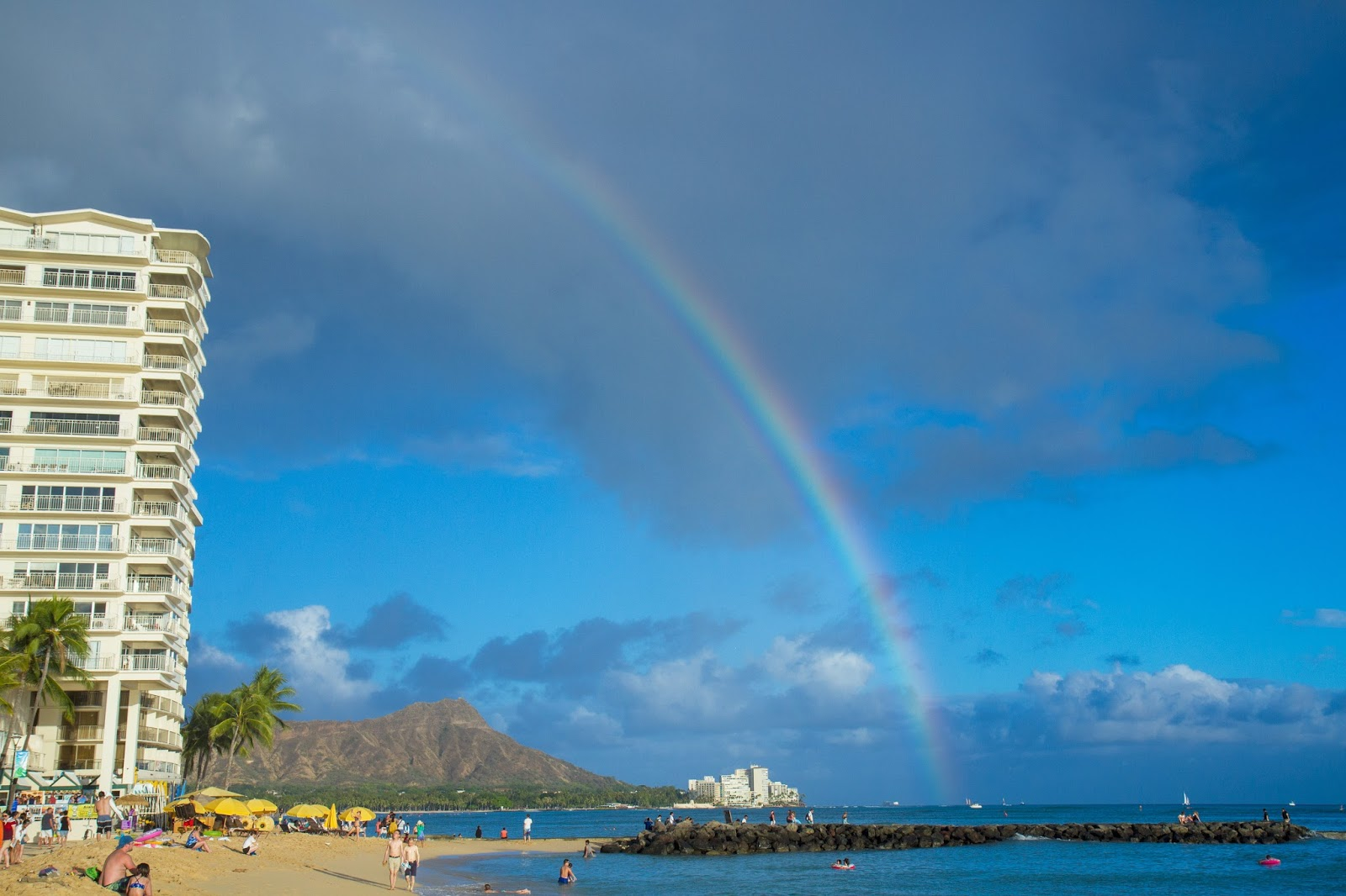 rainbow in Waikiki, Hawaii