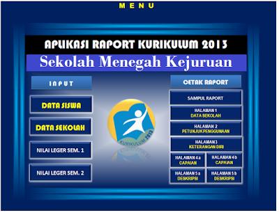 Format Raport SMK Kurikulum 2013 Kemdikbud