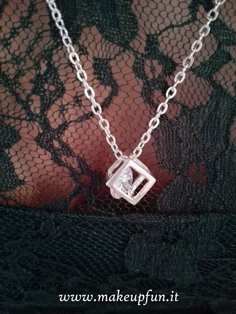 crystal cube pendant necklace