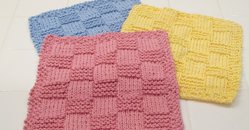 Knit Pattern: Easy Checkered Washcloth The Chilly Dog