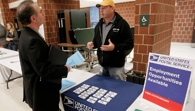 Number of workers receiving unemployment benefits falls to lowest level in 44 years