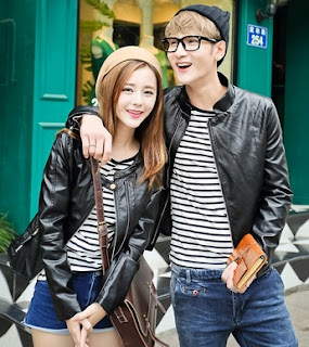 Gambar Jaket Kulit Couple Keren Model Bomber
