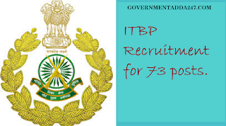 ITBP Recruitment for 73 posts.